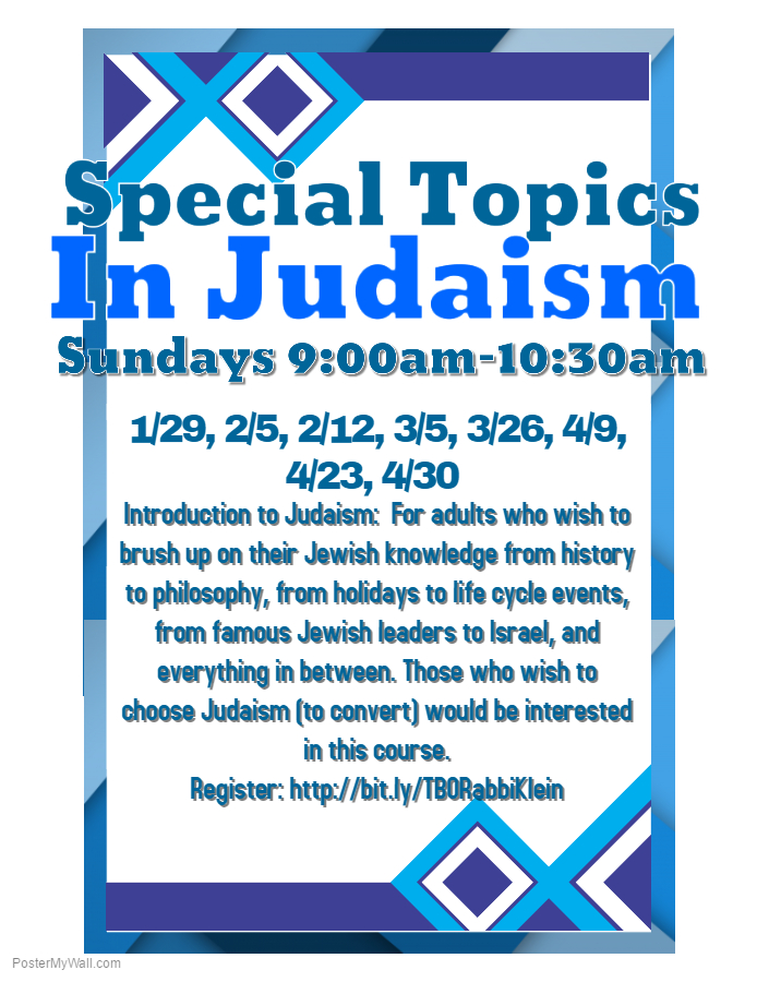 special topics in judaism